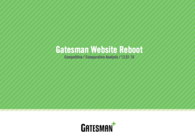 Gatesman Competitive Preview